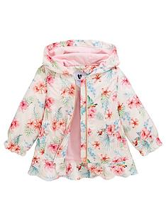 2c459c9669f63 Mini V by Very Girls Floral Jersey Lined Mac