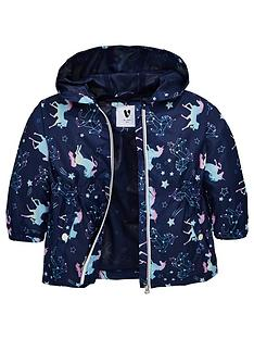 d14075ad352f Mini V by Very Girls Unicorn Jersey Lined Mac - Multi