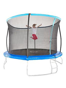 Sportspower 14Ft Trampoline With Easi-Store Folding Enclosure  Flip Pad