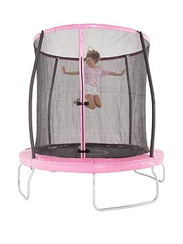 sportspower-8ft-pink-trampoline-with-easi-store-folding-enclosure