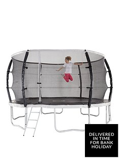 sportspower-14ft-titan-super-tube-trampoline-enclosure-ladder