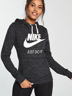 420c63c025c6 Nike Sportswear Gym Vintage HBR Hoodie - Black
