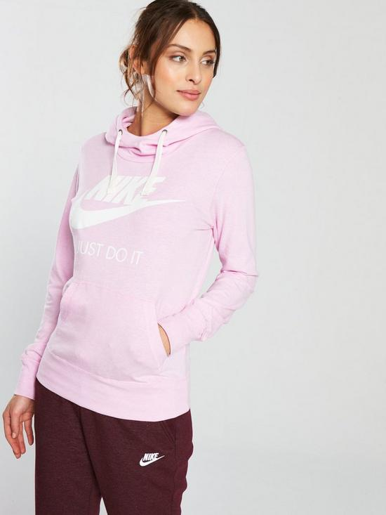 97d6ddfe0728 Nike Sportswear Gym Vintage HBR Hoodie - Pink