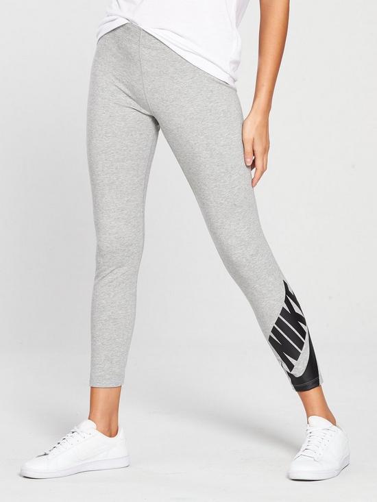 6257c5f6e7b81 Nike Sportswear Futura Leg-A-See Legging - Grey Heather | very.co.uk