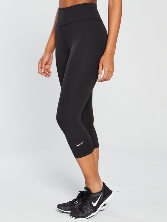 2eda1ff51f0d4 Nike The One Capri Legging - Black | very.co.uk