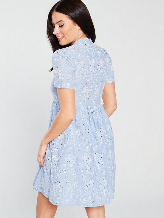 179ed58c29 ... Superdry Shelly Schiffli Dress - Blue Chambray. View larger