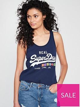 superdry-vintage-logo-sequin-vest-blue