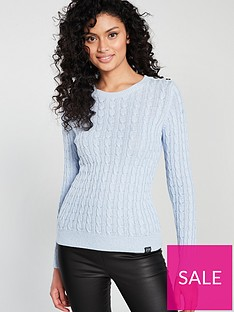 5e8fe4886 Superdry Croyde Bay Cable Knit