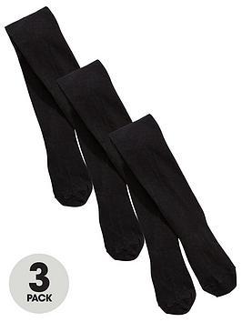 v-by-very-girls-3-pack-flat-knit-school-tights-black