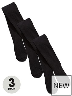 v-by-very-girls-3-pack-flat-knit-tights-black