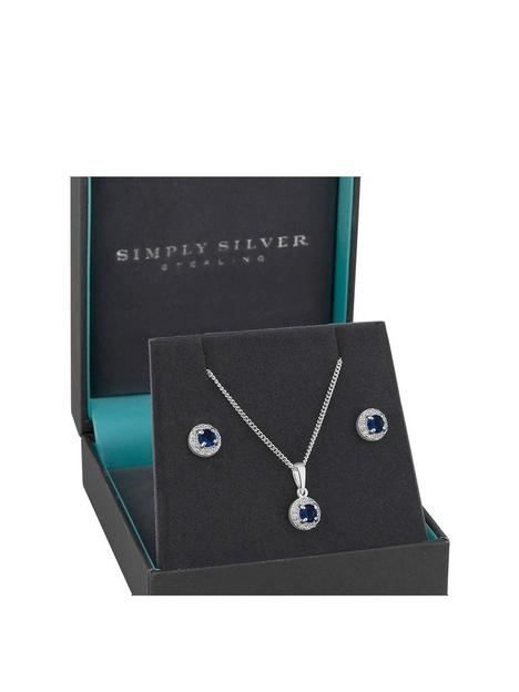 simply-silver-simply-silver-sterling-silver-sapphire-cubic-zirconia-halo-earrings-pendant-set