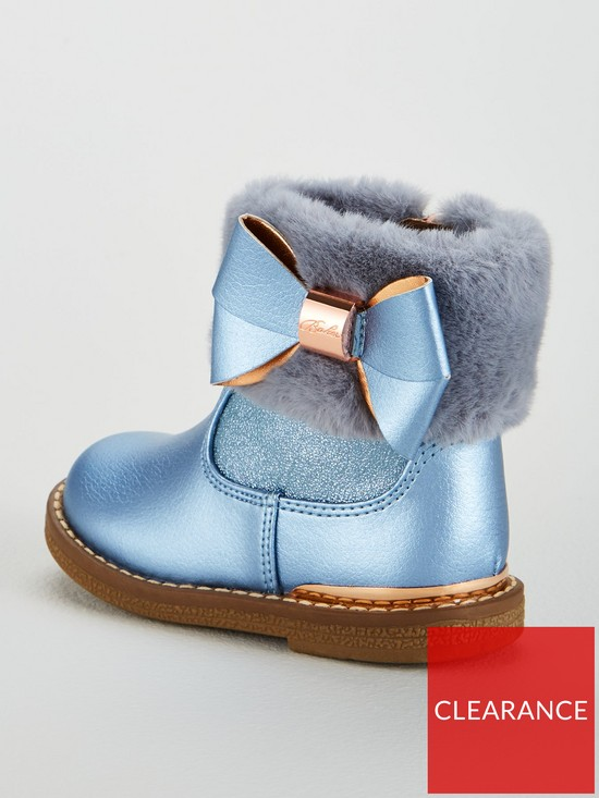 d900ccee662a29 ... Ted Baker Toddler Girls Faux Fur Cuff Boot. View larger