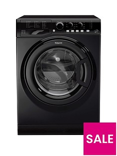 Hotpoint FML842K 8kg Load, 1400 Spin Washing Machine - Black