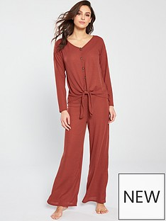 v-by-very-waffle-wide-leg-lounge-set-rust