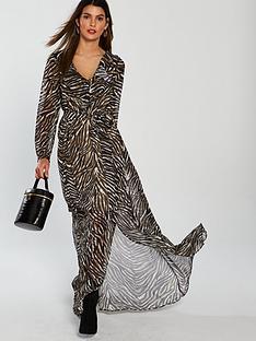 v-by-very-zebra-wrap-maxi-dress-printed
