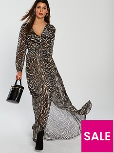 v-by-very-zebra-wrap-maxi-dress-printed