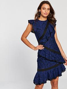 keepsake-encore-ruffle-detail-lace-dress