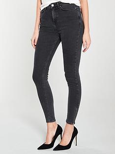 v-by-very-ella-high-waisted-zip-hem-skinny-jeans-washed-blacknbsp