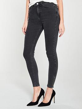 v-by-very-ella-high-waisted-zip-hem-skinny-jeans-washed-blacknbsp