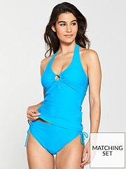 9692dbe87ea2f V by Very Mix & Match Halter Ring Tankini Top