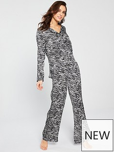 v-by-very-zebra-satin-pyjama-blackwhitenbsp