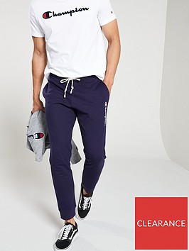 champion-colour-block-rib-cuffed-joggers-navy