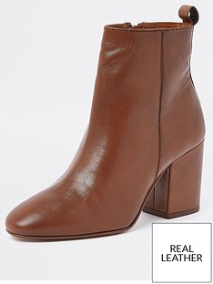 river-island-river-island-classic-leather-ankle-boot-tan