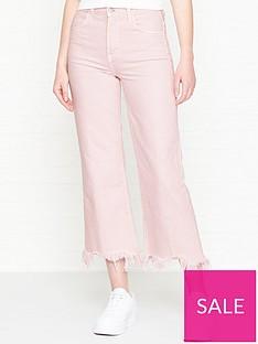ad2d686912196 J BRAND Joan High Rise Crop Raw Hem Bootcut Jeans - Faded Pandora