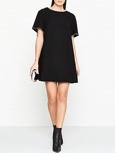 mcq-alexander-mcqueen-flared-trapeze-dress-black