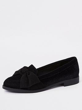 river-island-bow-detail-loafer-black