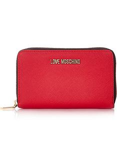 love-moschino-logo-medium-saffiano-zip-wallet-red