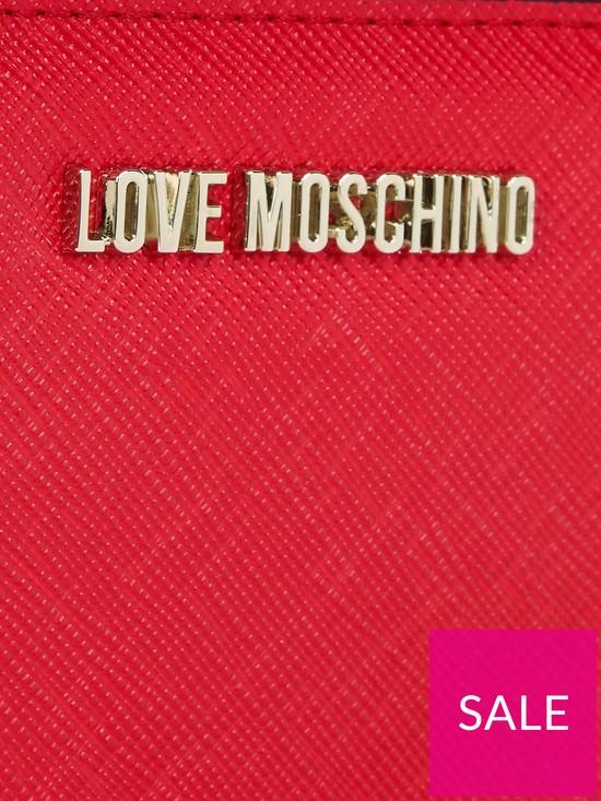 964c882a326 ... LOVE MOSCHINO Logo Medium Saffiano Zip Wallet - Red. View larger