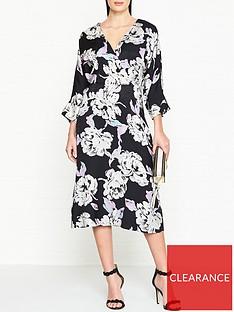 gestuz-wrap-effect-floral-jacquardnbspdress-black