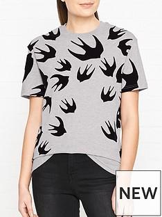 mcq-alexander-mcqueen-classic-swallow-print-t-shirt-grey