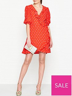 perseverance-london-margarita-embroidered-crepe-ruffled-wrap-mini-dress-red