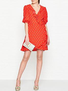 perseverance-london-margarita-embroidered-crepe-ruffled-wrap-mini-dress-red