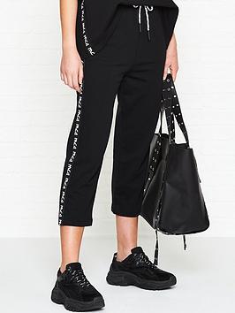 mcq-alexander-mcqueen-cropped-racer-pants-black