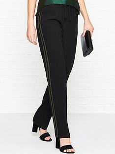bec-bridge-loco-motion-lurex-stripe-trousers-black