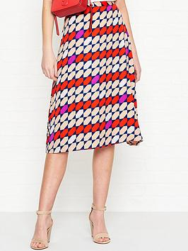 gestuz-recycled-graphic-tile-print-skirt-red