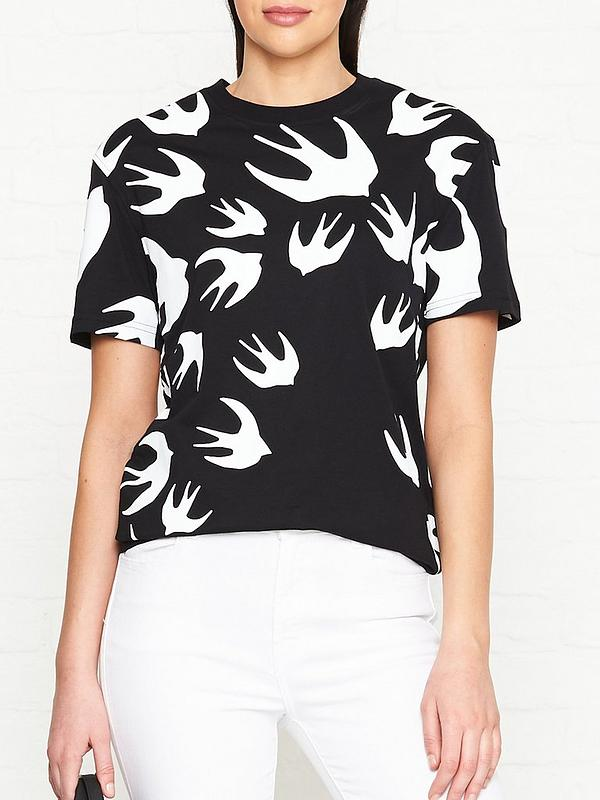 mcq alexander mcqueen classic swallow logo t shirt very co uk classic swallow logo t shirt