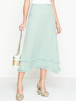 gestuz-long-chiffon-jacquardnbspfrill-skirt-mint-blue