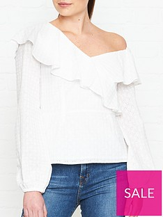 perseverance-london-ditsy-cotton-anglaise-asymmetric-blouse-off-white