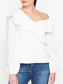 perseverance-london-ditsy-cotton-anglaise-asymmetric-blouse-off-white