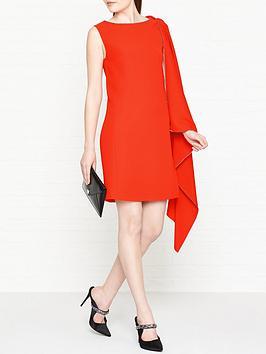 mcq-alexander-mcqueen-cascade-one-shoulder-dress--nbsporange