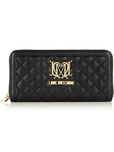 love-moschino-large-zip-around-quilted-wallet-black