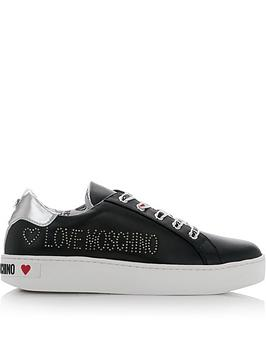 love-moschino-logo-lace-up-trainers-black