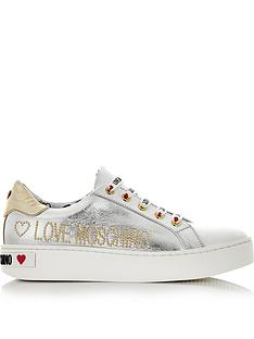 love-moschino-love-moschino-logo-lace-up-trainers--silver