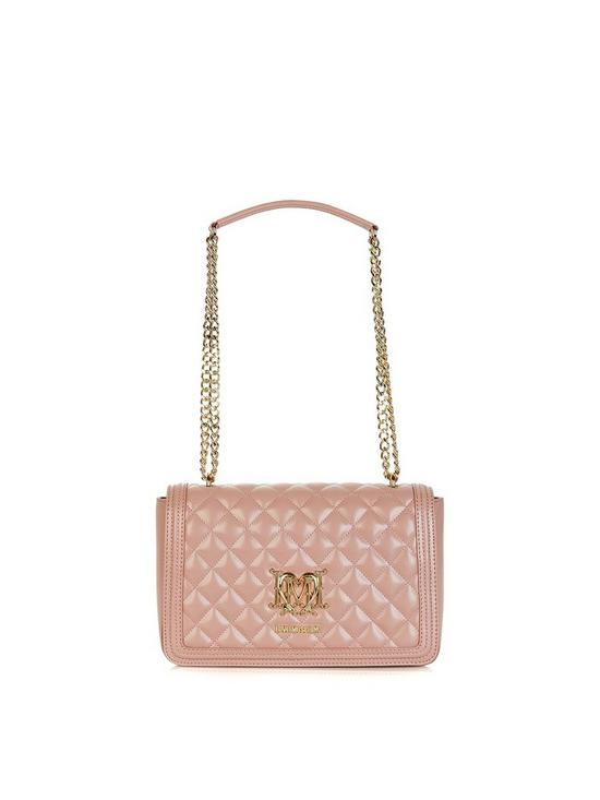 cb819f85f5 LOVE MOSCHINO Quilted Logo Shoulder Bag - Blush Pink