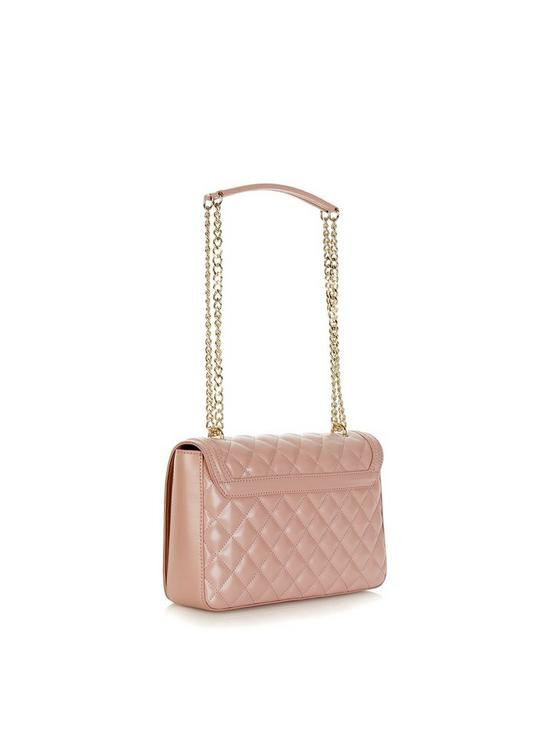 310db05b24ebf LOVE MOSCHINO Quilted Logo Shoulder Bag - Blush Pink