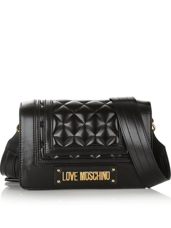 LOVE MOSCHINO Quilted Logo Cross-Body Bag - Black  535be00b3b36